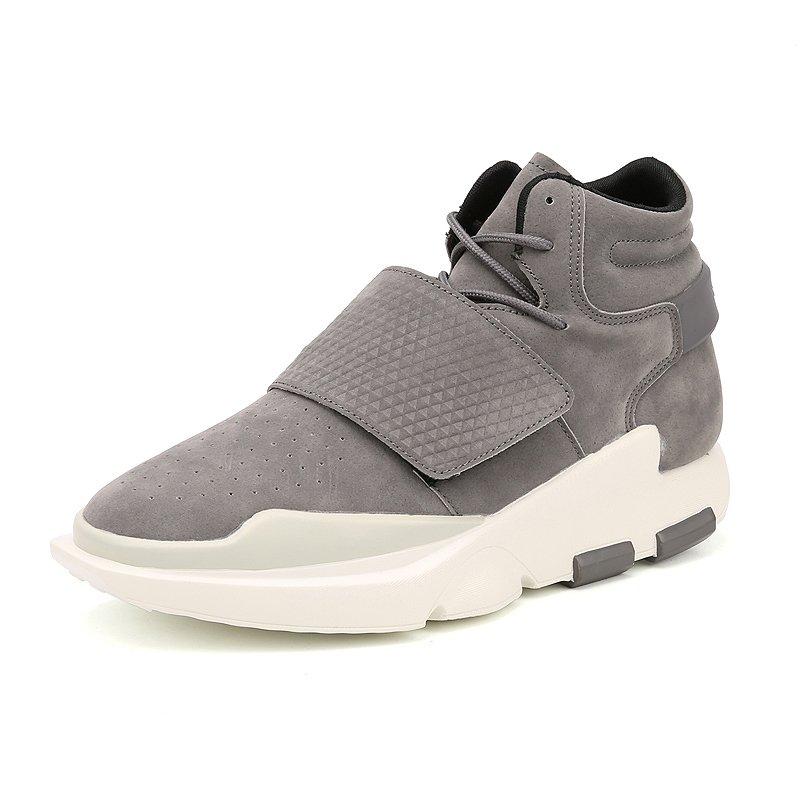 Cara Beli Pria Kasual Sepatu Tinggi Atas Mesh Bernapas Air Sport Basket Berjalan Sepatu Male Superstar Pelatih Sneakers Grey Intl