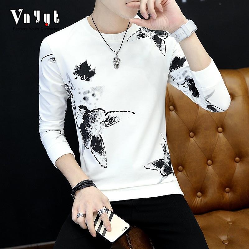 Review Terbaik Pria Musim Semi Dan Musim Panas Korea Fashion Style Baju Dalaman Kaos Putih