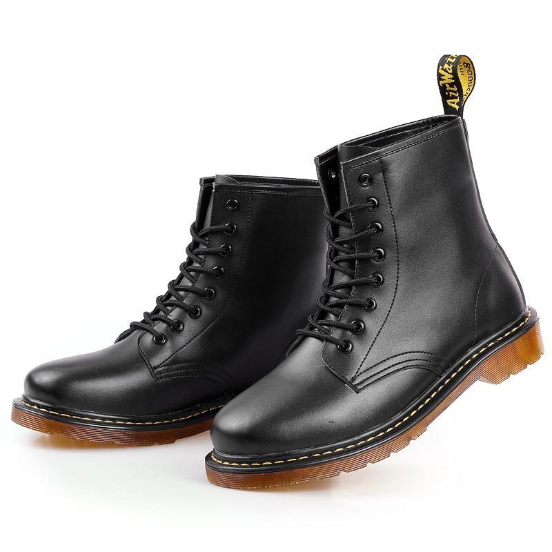 Jual Pria Tinggi Leather Martin Boots Baru Sepatu Kulit Lembut Oxford End Memakai Sepatu Bot Hitam Intl Oem Asli