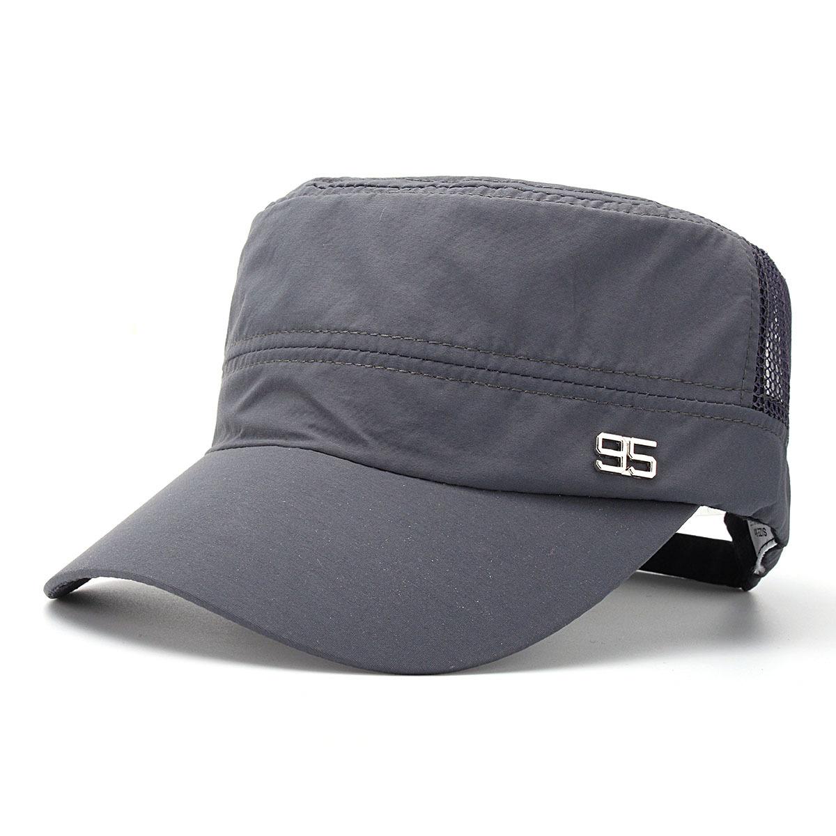 Diskon Produk Pria Wanita Army Plain Hat Kerai Militer Mesh Cadet Outdoor Baseball Topi Datar Intl