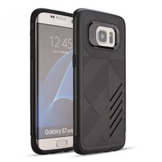 (Harga Tersembunyi) untuk Samsung Galaksi S7 Sisi Lucy OEM Bemper Anti Guncangan Anti-Menggaruk dan Anti Selip Pelindung Defender Pelindung Case Sarung untuk Samsung Galaksi S7 Sisi, hitam-Internasional