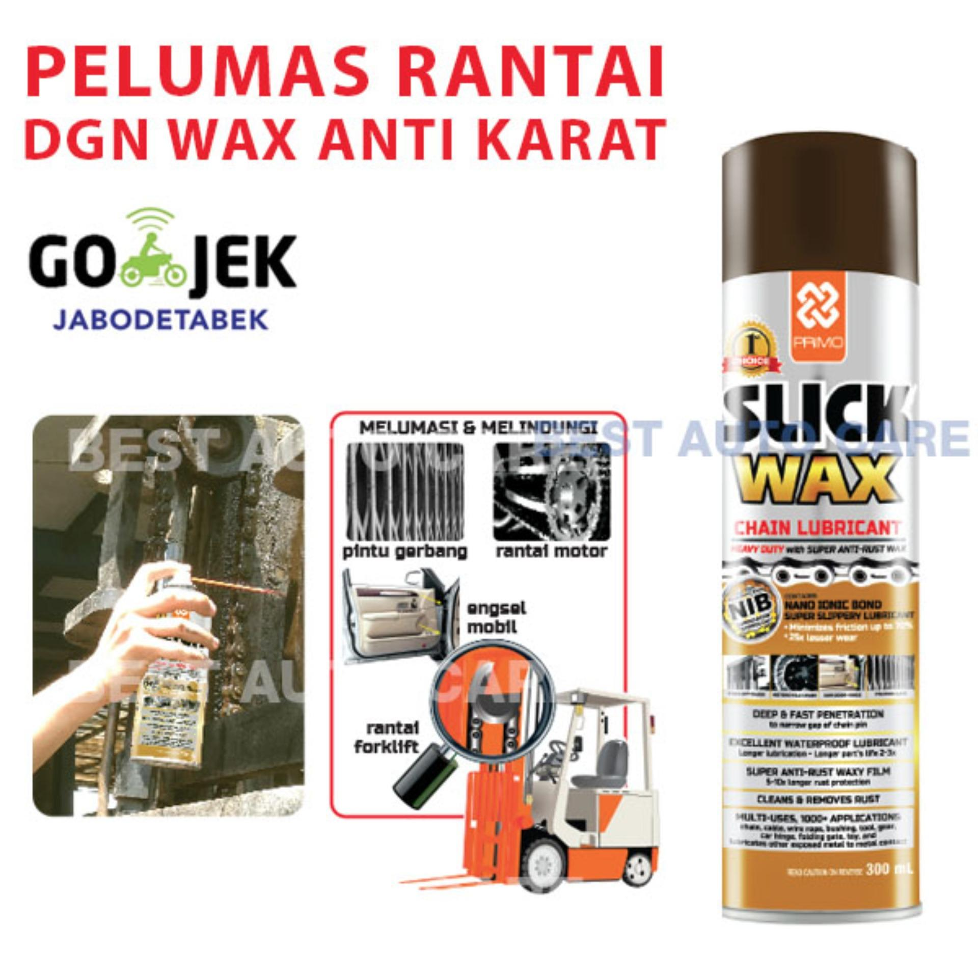 Primo Slick Wax Pelumas Rantai Super Anti Karat Chain Lube + WAX Terbaik - 300 mL