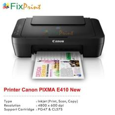 Printer Canon Pixma E410 E-410 E 410 All-In-One (Print- Scan- Copy)  Peripheral Komputer