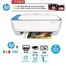 Printer Wireless Wifi Color Scanner Fotokopi Print dari Handphone Android iOS A4 Letter: HP Original Garansi 1 Tahun
