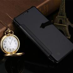 Priskila Flip Mirror Cover S View Transparan Auto Lock Casing Hp Flipcase for Samsung J2 Prime