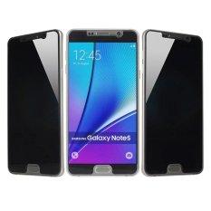 Spesifikasi Privasi Anti Spy Ultra Tipis 9 H Tempered Glass Screen Protector Untuk Samsung Galaxy Note5 Hitam Intl Yang Bagus