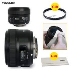 Pro Yongnuo 35mm F/2 Lensa 1:2 AF/MF Sudut Lebar Lensa Otomatis For Nikon DSLR Kamera