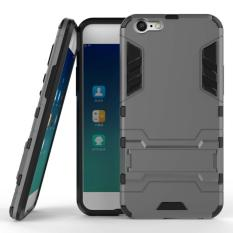 ProCase Kickstand Hybrid Armor Iron Man PC+TPU Back Cover Case for Oppo A39 / A57 - Grey