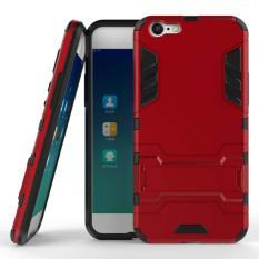 ProCase Kickstand Hybrid Armor Iron Man PC+TPU Back Cover Case for Oppo A39 / A57 - Red