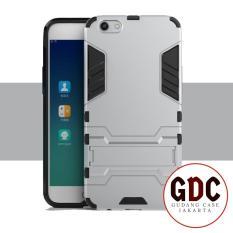 ProCase Kickstand Hybrid Armor Iron Man PC+TPU Back Cover Case for OPPO F3 Plus - Silver
