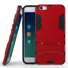 ProCase Kickstand Hybrid Armor Iron Man PC+TPU Back Cover Case for OPPO F3 Plus - Red