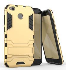 ProCase Kickstand Hybrid Armor Iron Man PC+TPU Back Cover Case for Xiaomi Redmi 4X - Gold