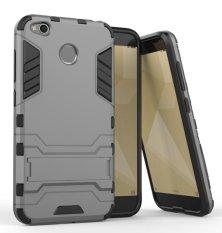 ProCase Kickstand Hybrid Armor Iron Man PC+TPU Back Cover Case for Xiaomi Redmi 4X - Grey