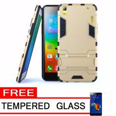 ProCase Shield Rugged Kickstand Armor Iron Man PC+TPU Back Covers for Lenovo A7000 - Gold + Free Tempered Glass