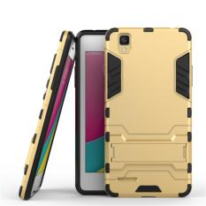 ProCase Shield Rugged Kickstand Armor Iron Man PC+TPU Back Covers for Oppo F1 Selfie Expert - Gold