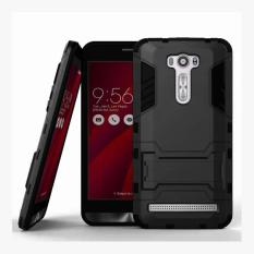 ProCase Shield Rugged Kickstand Armor Iron Man PC+TPU Back Covers for Asus Zenfone 2 Laser ZE500KL / ZE500KG - Full Black