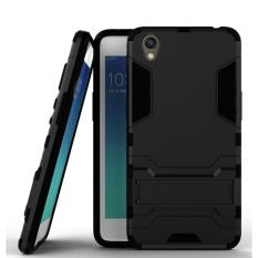 ProCase Shield Rugged Kickstand Armor Iron Man PC+TPU Back Covers for Oppo Neo 9 / Oppo A37 - Full Black