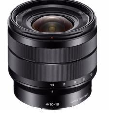 Produk SONY E 10-18mm F4 OSS Hitam Lensa Kamera