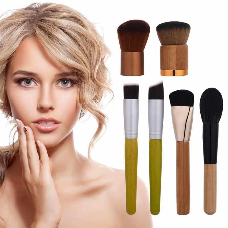Profesional Kuas Makeup Bubuk Make Up Kuas Blush-on 6 Pcs Kosmetik Bambu Pegangan-