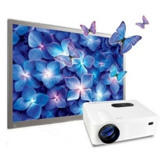 Profesional Proyektor Cheelux CL720 Projector HD Mantap TV Tuner LCD Projektor LED 3000 lumens WHITE