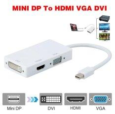 Jual Profesional 3 In 1 Converter Thunderbolt Mini Tampilan Port Dp Untuk Hdmi Dvi Vga Adaptor Kabel Untuk Apple Macbook Pro Air Murah