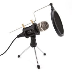 Profesional kondensor mikrofon, Plug &Play Studio Rumah untuk Iphone Android rekaman, Podcasting, Online Chatting Such sebagai Facebook, MSN, Skype, Desktop MIC dudukan dual-layer akustik filter