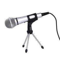 Kondensor Profesional Mikrofon Stand Ringan untuk PC Tripod Studio-Intl