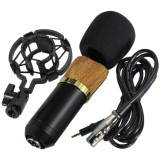 Spesifikasi Professional Condenser Studio Microphone With Shock Proof Mount Bm700 Hitam Dan Harga