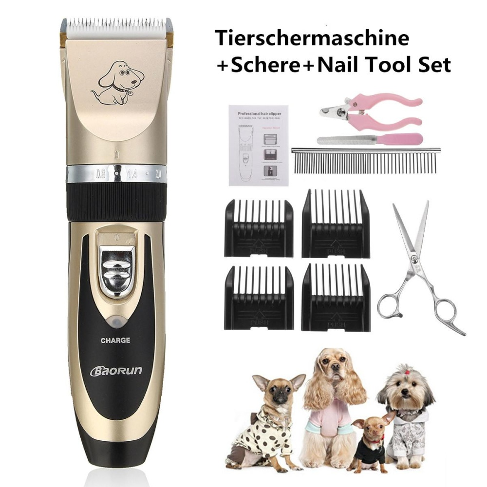 Situs Review Professional Cordless Pet Dog Cat Electric Hair Clipper Trimmer Kit Grooming Set Intl