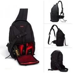 DSLR SLR Sling Kamera Tas Perjalanan Luar Ruangan Ransel Ransel dengan Anti-Air Sarung untuk Sony Canon Nikon Olympus Kamera dan aksesoris Kamera (Merah) -Internasional