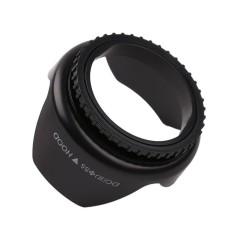 Profesional Flower Shape Screw Mount Lens Hood (Hitam)-55mm (Hitam)-Intl