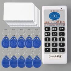Profesional Handheld Langsung Decoding RFID IC/Kartu IDENTITAS Copier/Duplicator/Pembaca/Penulis dengan 10 Kartu dan 10 Ditulis TAG-Internasional