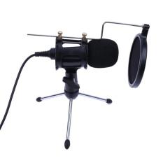 Profesional Portable Desktop Kondensor Mikrofon Stand Holder Tripod Set-Intl
