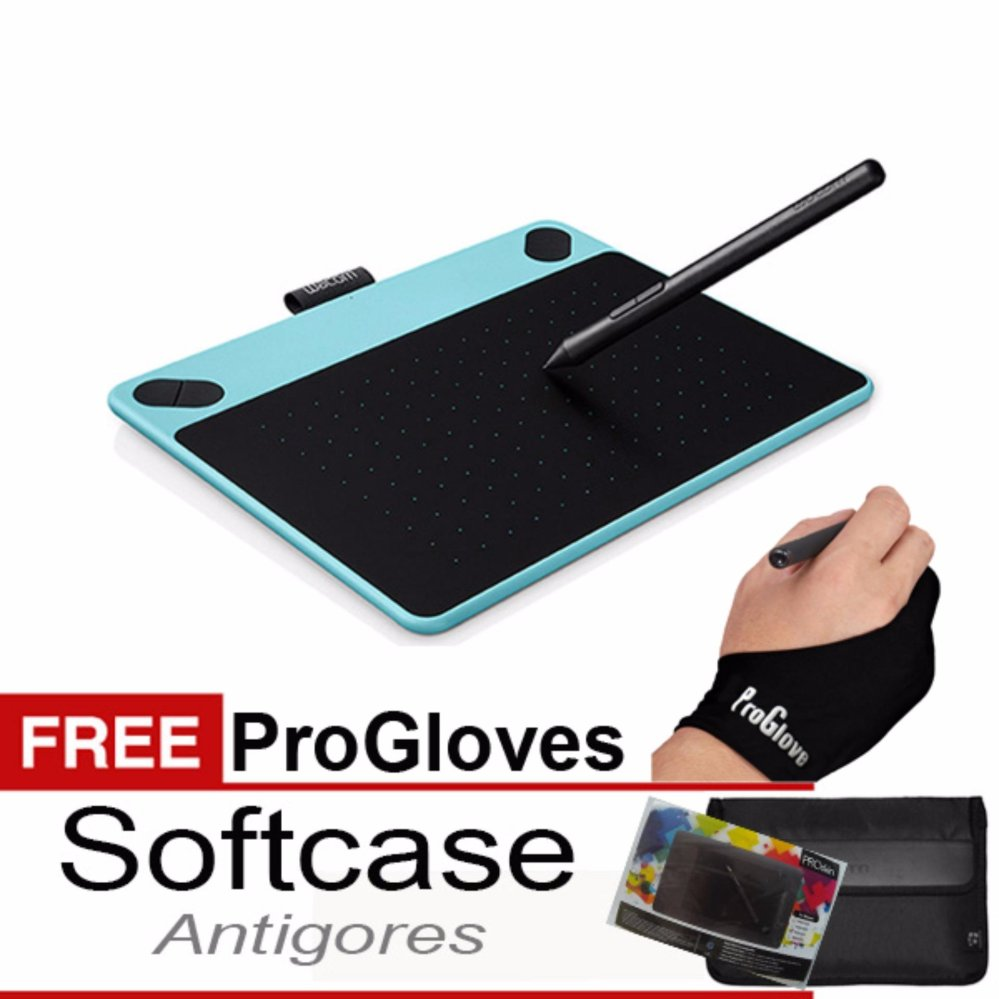 Jual Promo Wacom Intuos Draw Ctl490 Pen Tablet Mint Blue Fee Softcase Antigores Dan Glove Ori