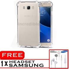 PROMO  Case Anti Shock / Anti Crack Elegant Softcase  for Samsung Galaxy J7 2016 (J710) - White Clear + Free Headset Samsung