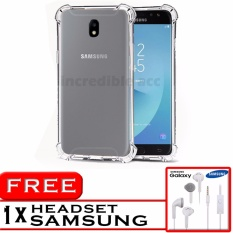 PROMO  Case Anti Shock / Anti Crack Elegant Softcase  for Samsung Galaxy J7 Pro (J730) - White Clear + Free Headset Samsung