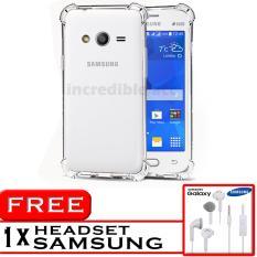 PROMO  Case Anti Shock / Anti Crack Elegant Softcase  for Samsung Galaxy V / V Plus - White Clear + Free Headset Samsung