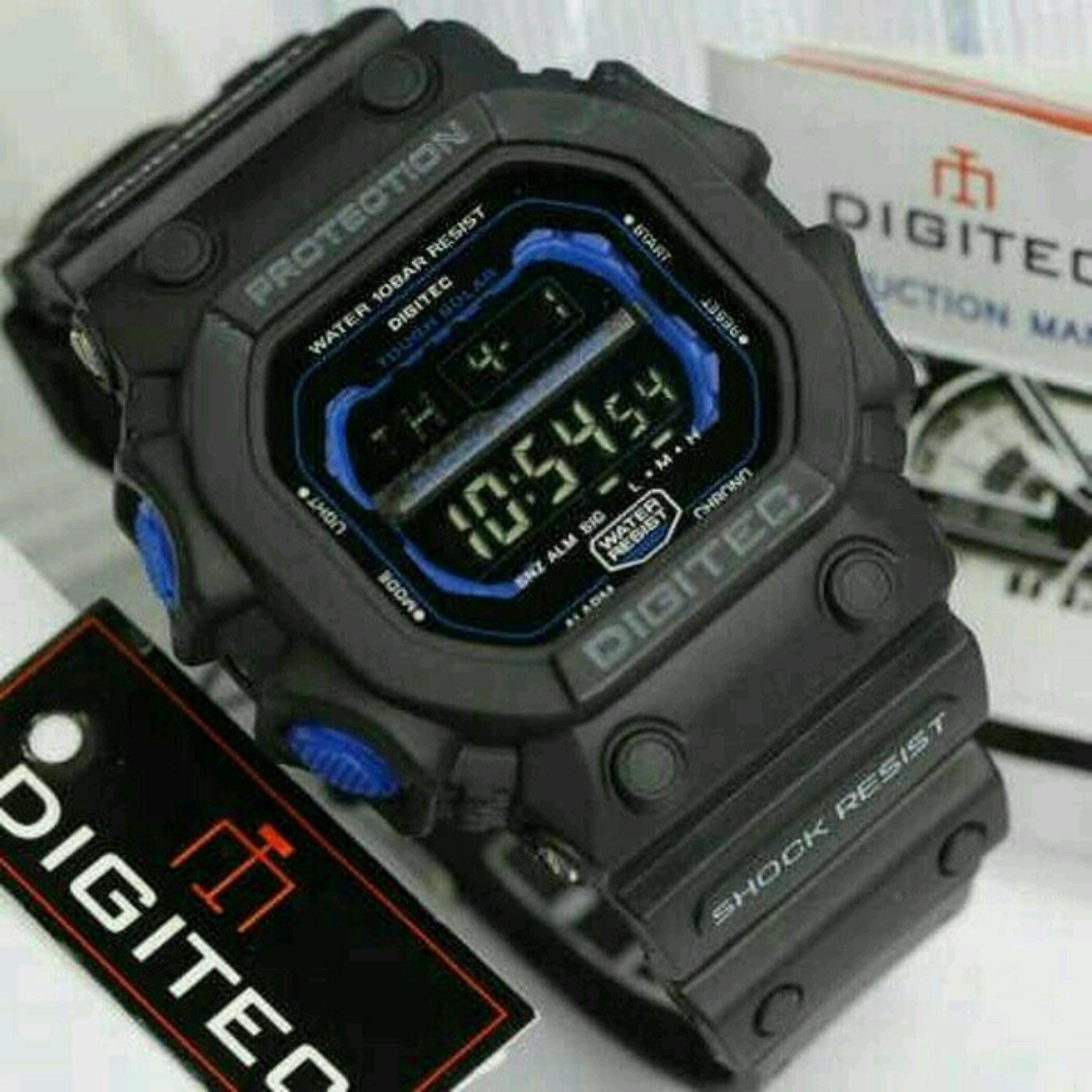 Promo Promo Digitec Monster Dg 2012T Original Anti Air Jam Tangan Pria Sporty Casual Hitam Biru Digitec