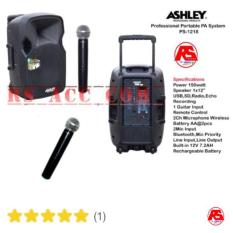 Promo Harga Murah !!! Speaker Portable Amplifier Wireless Meeting Ashley Ps 1218 (12 Inch) Pegang