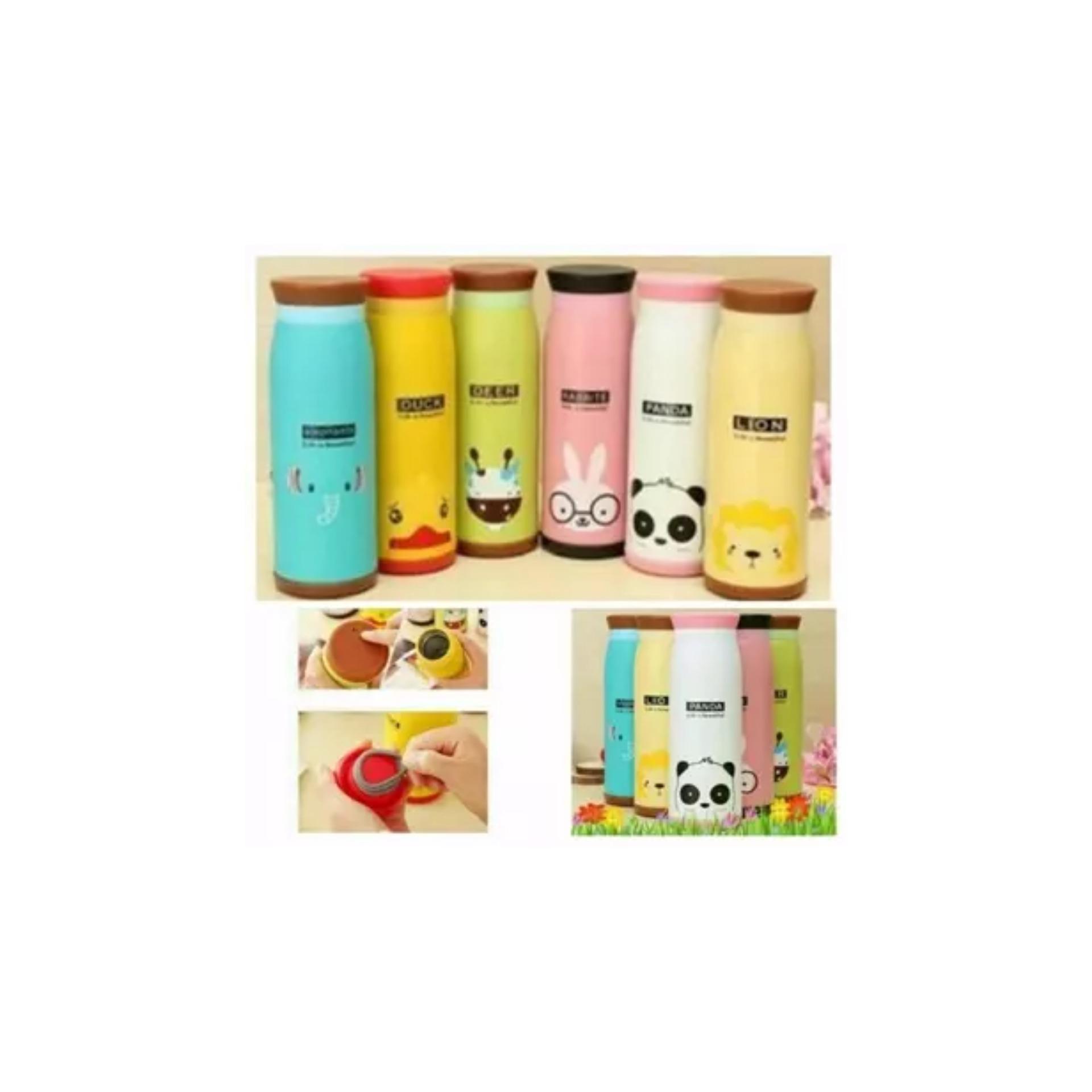 Spesifikasi Promo Khusus Stainless Tumbler Animal Botol Minum Thermos Karakter Termos Cooler Tumbler Aqua