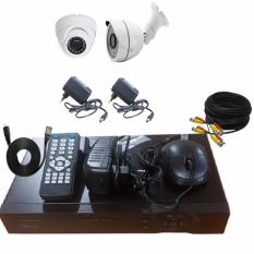 Jual Promo Paket Cctv 1 Camera Indoor 2Mp 1 Camera Outdoor 2Mp Dvr 4Ch Indonesia