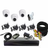 Harga Promo Paket Cctv 3 Camera In 1 3Mp 1 Outdoor 1 3Mp Dvr 4Chanel Merk Solid