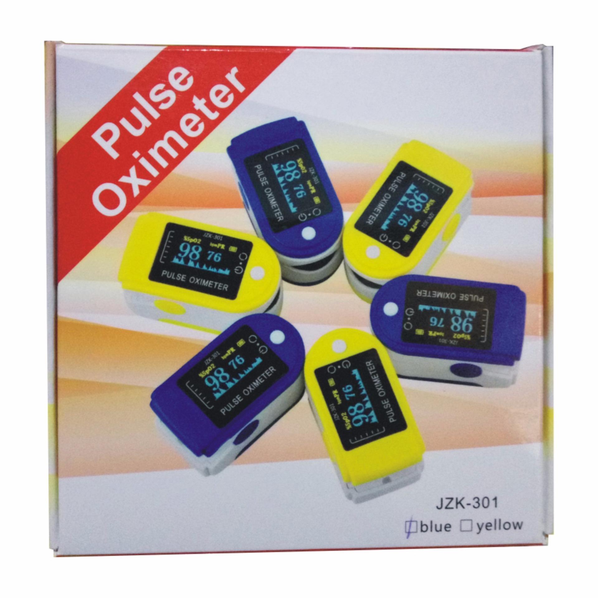 PROMO - Pulse Oximeter Digital JZK-301 Blue Kualitas Bagus