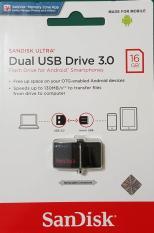 (Promo) Sandisk Ultra Dual Usb Drive 3.0 16gb Flashdisk Otg 16 Gb FD