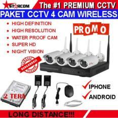 PROMO TERBARU...PAKET CCTV WIRELESS 4 IP CAMERA 1.3 MEGAPIXEL IP KAMERA SUPER HD + HARDISK 2 TERA SIAP PAKAI TERMURAH