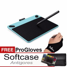 PROMO!!!Wacom Intuos Comic CTH490 Pen Tablet - Mint Blue + Gratis Softcase + Antigores dan Glove