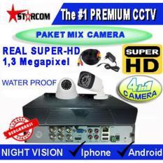 PROMO...PAKET CCTV SUPER-HD 2 CAMERA MIX ( 4in1 Cam) REAL AHD SYSTEM 1.3 MP ( Bukan ANALOG TVL )