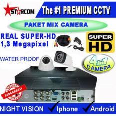 PROMO...PAKET TERBARU CCTV SUPER-HD 2 CAMERA MIX ( 4in1 Cam) REAL AHD SYSTEM 1.3 MP ( Bukan ANALOG TVL )