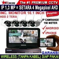 PROMO...PAKET TERBARU CCTV WIRELESS KAMERA 1.3 MEGAPIXEL ALL IN ONE MONITOR + HDD TERMURAH
