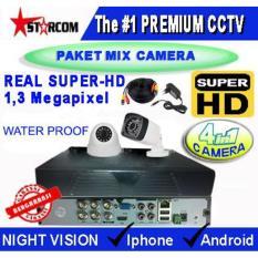 PROMO...TERBARU PAKET CCTV SUPER-HD 2 CAMERA MIX ( 4in1 Cam) REAL AHD SYSTEM 1.3 MP ( Bukan ANALOG TVL )